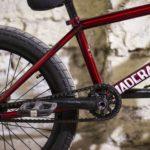 Red BMX Bike against wall