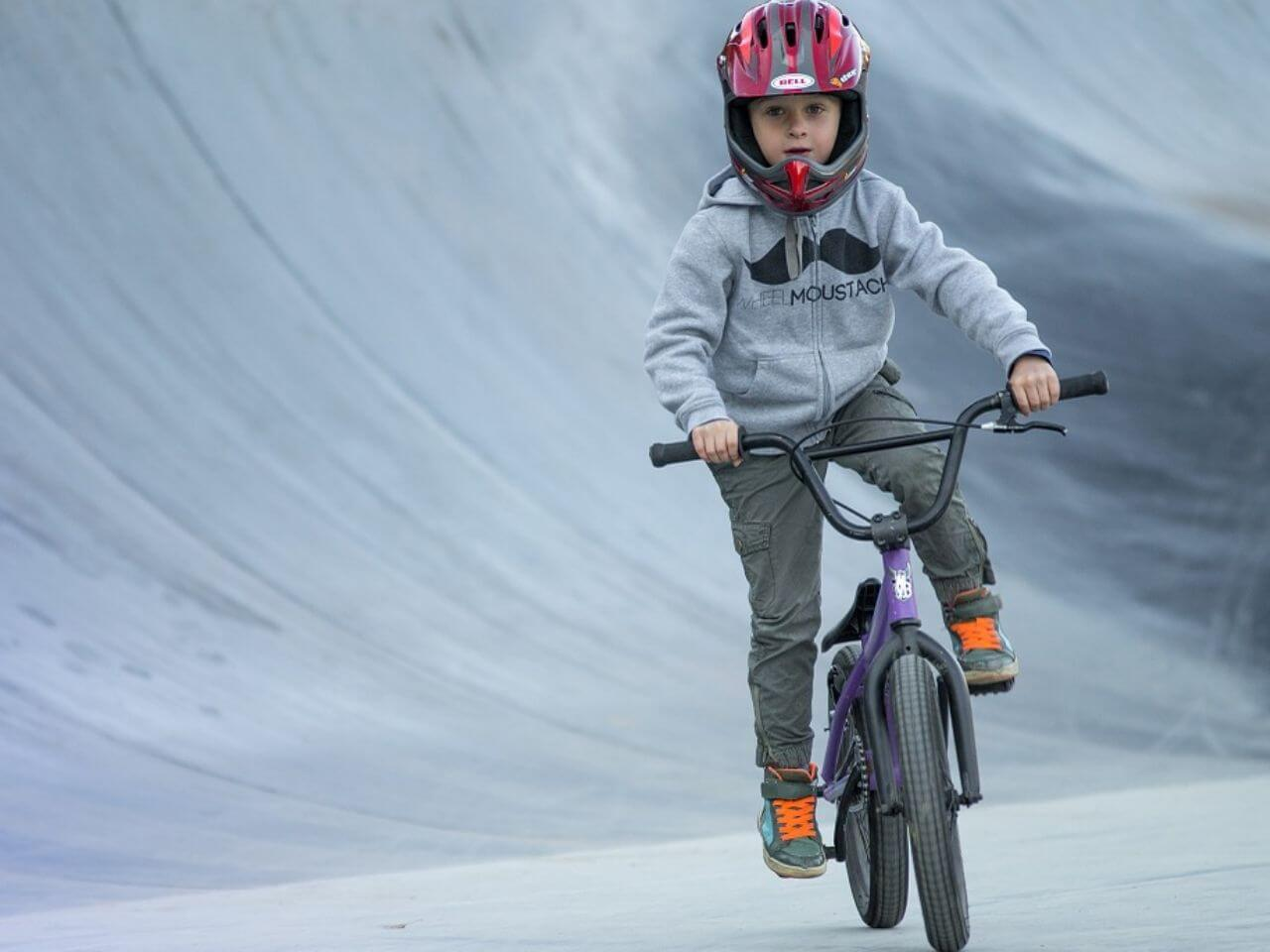 Child on bmx bike